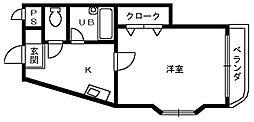 バードヒル鳳[2階]の間取り