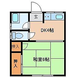 ふじアパート[2階]の間取り