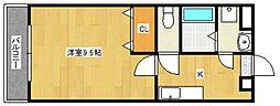 ピュアクローネII[1階]の間取り