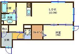 サンシャインS A棟B棟[203号室]の間取り