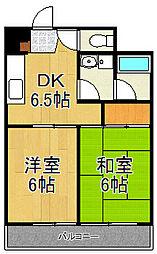 神奈川県横浜市戸塚区平戸1丁目の賃貸マンションの間取り
