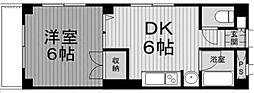 アソルティ古淵[4階]の間取り