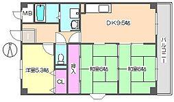 エクセル中央 707[7階]の間取り