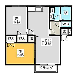 サンファミリーK・N[2階]の間取り