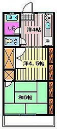 サン松原[1階]の間取り