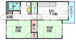 ドムス桃山台[2階]の間取り