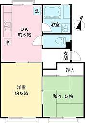ドミール大沢[1階]の間取り