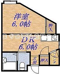 大阪府大阪市旭区新森3丁目の賃貸マンションの間取り