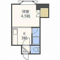 コーポH・S東札幌[2階]の間取り
