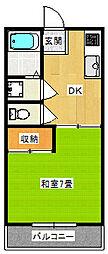 ハウス・ヨシダB[2階]の間取り