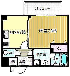 アレンダール梅田西[4階]の間取り