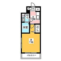 パンルネックスクリスタル博多駅南II[2階]の間取り
