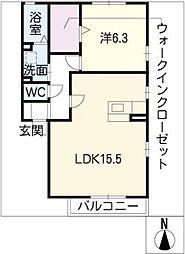 メゾンドファミール[1階]の間取り