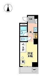 つばめ栄ハイツ[3階]の間取り