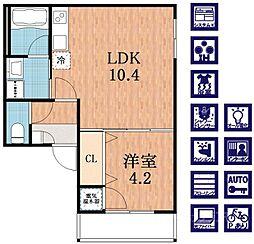 F maison COAST[3階]の間取り