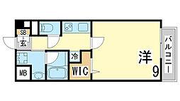 JR東海道・山陽本線 新長田駅 徒歩14分の賃貸マンション 2階1Kの間取り