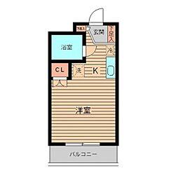 美山コーポ向ヶ丘[202号室]の間取り