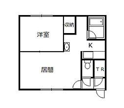 カメリアハウス[1階]の間取り
