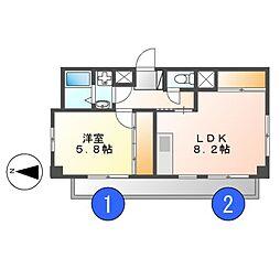VIP・Y[1階]の間取り