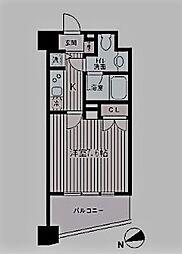 東京都新宿区築地町の賃貸マンションの間取り
