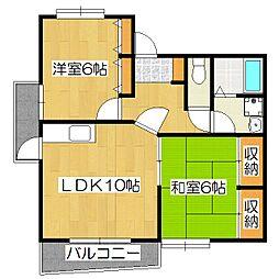 カーサOBATA[2階]の間取り