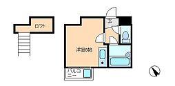 松戸カサベラ六番館[2階]の間取り
