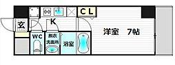 レジュアールアッシュ難波MINAMI-II[7階]の間取り