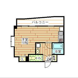 福岡県北九州市小倉北区片野2の賃貸マンションの間取り