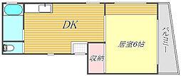 東京都目黒区中町2丁目の賃貸マンションの間取り