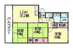 シティハイツ久栄[4階]の間取り