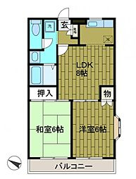 エクセルメゾン壱番館[2階]の間取り