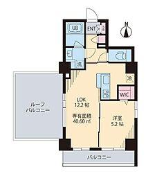 都営新宿線 菊川駅 徒歩6分の賃貸マンション 6階1LDKの間取り