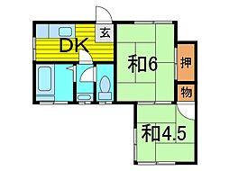 北村荘[2階]の間取り