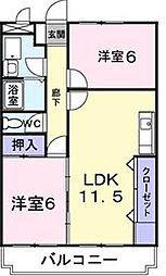 香川県高松市今里町1丁目の賃貸マンションの間取り