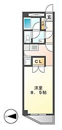 A-WING[4階]の間取り
