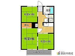 江口ハイツ[2階]の間取り