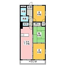 グランドヒルズ神宮寺5番館[1階]の間取り