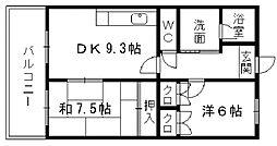 ラ・クーレIII[4階]の間取り