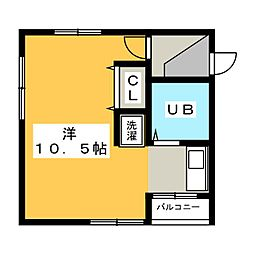 ソレイユII[1階]の間取り