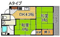住之江パークハイツNO.1[5階]の間取り
