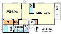 豊川モリハイツ[1階]の間取り