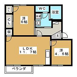 プロムナードFUKUTA C棟[2階]の間取り
