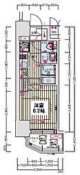 プレサンス大阪ゲートシティ[7階]の間取り