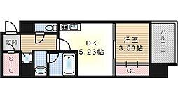 W.O.B西九条[8階]の間取り