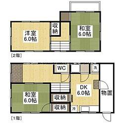 [一戸建] 岡山県岡山市南区福富西2丁目 の賃貸【/】の間取り