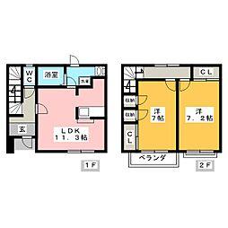 [テラスハウス] 愛知県岡崎市東大友町字位式 の賃貸【愛知県 / 岡崎市】の間取り