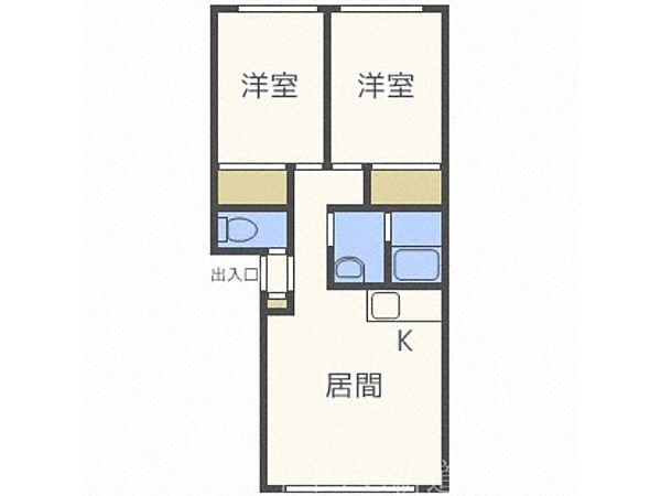 北海道札幌市東区伏古十一条3丁目の賃貸アパートの間取り