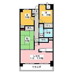 チサンマンション大治[4階]の間取り