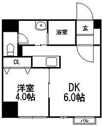 北海道札幌市豊平区美園七条6丁目の賃貸マンションの間取り