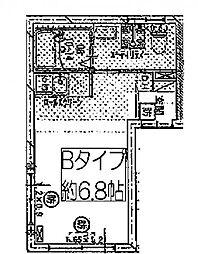つくばエクスプレス 浅草駅 徒歩4分の賃貸マンション 3階ワンルームの間取り